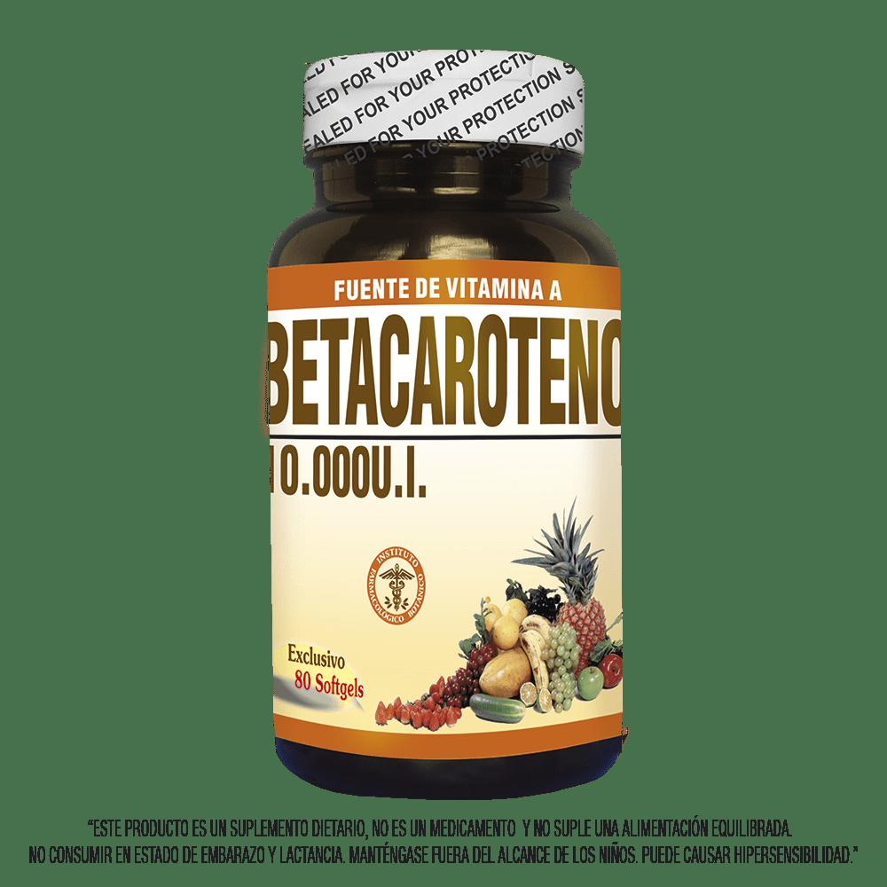 Betacaroteno 25000  x 80 cápsulas