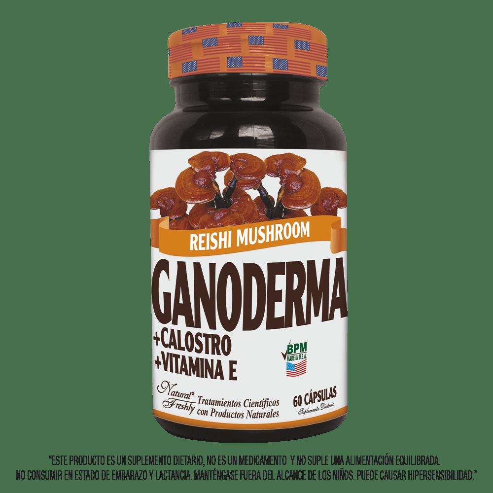 Ganoderma + calostro + vitamina E x 60 cápsulas