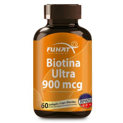Biotina ultra 900 mcg 60 softgels vista frontal