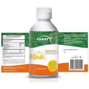 Bqnat jarabe 240 ml vista frontal etiqueta abierta con especificaciones del producto