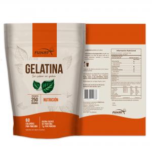 Gelatina sin sabor 250 g vista en reverso