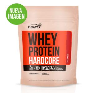 Whey protein hardcore 2 LB vista frontal