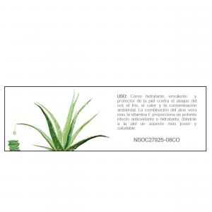 Vitamina E + Aloe vera facial etiqueta de uso